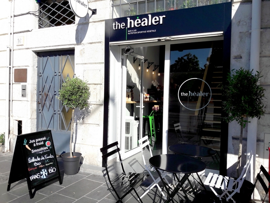 the healer bar à jus biologique local nice